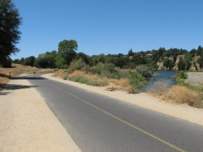 American River Bike Trail, just east of the Bridge St entrance, at approximately Mile 21. Photo by Cravenmonket/wiki.