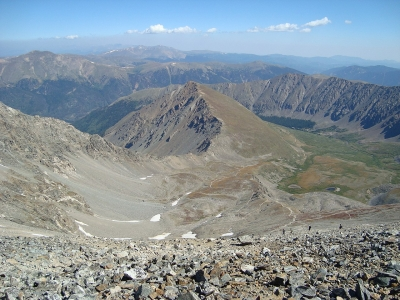 Grays Peak Trail almost from the top. Photo by Pimlico27/wiki.