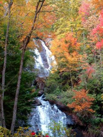 Anna Ruby Falls in the fall. Photo by USFS.