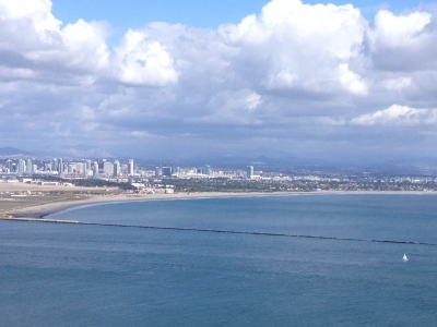 San Diego Bay and Silver Strand from Point Loma Lighthouse. Photo by wiki Angspring.