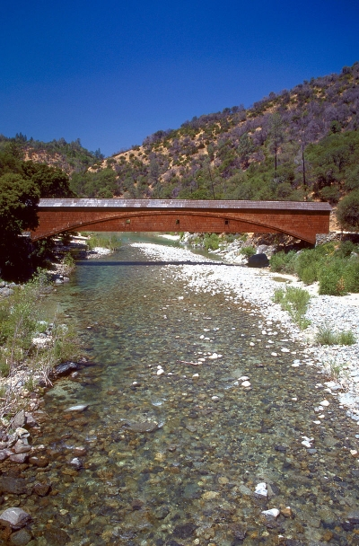 The Bridgeport Covered Bridge on the South Fork Yuba River in South Yuba River State Park. Photo by USACE.