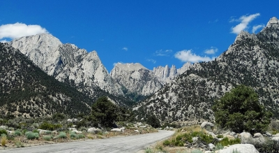 The Whitney Portal is 13 miles west of Lone Pine, CA, at the end of Whitney Portal Road. It is in a heavily wooded canyon, with. Photo by inkknife_2000.