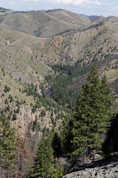 Poudre Canyon. Photo by KimonBerlin wiki.