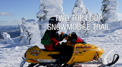 Two Top Snowmobile Trail in Custer Gallatin National Forest.