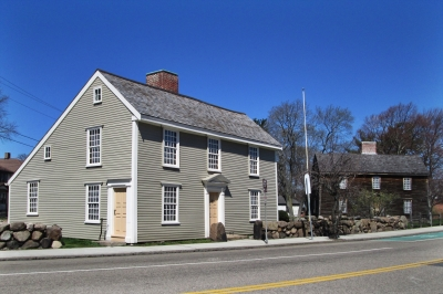 Birthplaces of John Adams (right) and John Quincy Adams (left), Quincy, Mass. Photo by Valerie A. Russo.