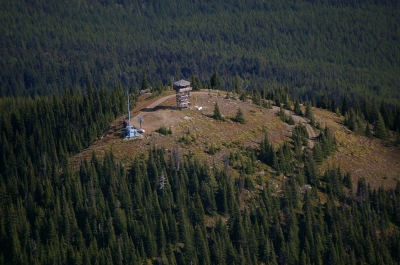 View of fire lookout. Photo by Wade Moats/USFS.