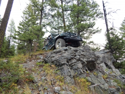 Earning a Jeep Badge of Honor for the Blacktail-Wild Bill Trail. Photo by Eric Davis.