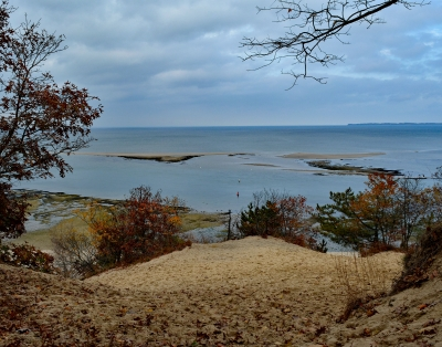 View of Mouth of the Nissequogue River form Greenbelt Trail. Photo by Dorothy Chanin.