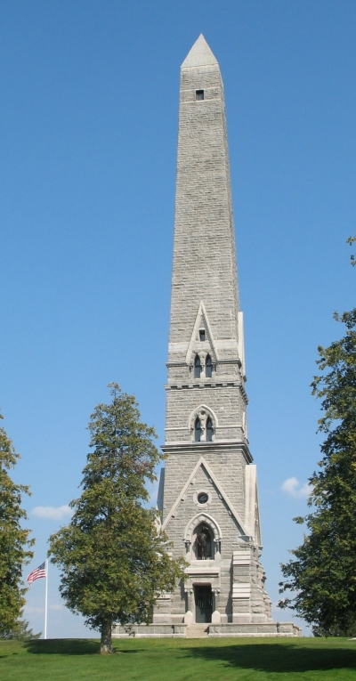 Saratoga Monument in Saratoga National Historical Park. Photo by Americasroof/wiki.