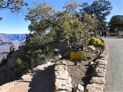 You enter this trail from the Grand Canyon Rim Trail. Photo by Valerie A. Russo.