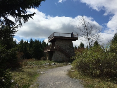 Observation tower at the summit of Spruce Knob, West Virginia. Photo by Famartin.