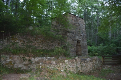 Roaring Run Furnace built in 1832. Photo by Nyttend.