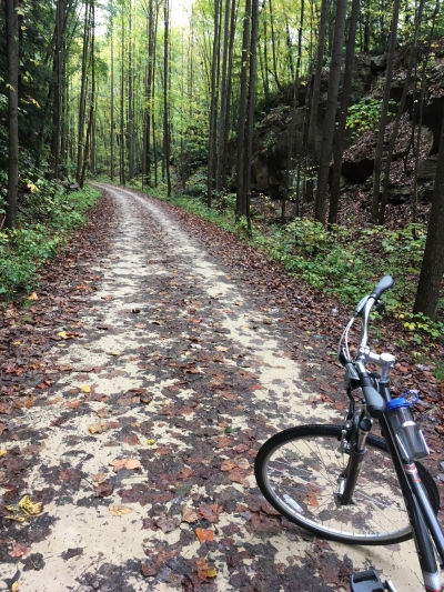 Early Autumn Bike Excursion. Photo by Julie A. Zeyzus.