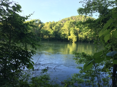 Scenic views of the Clinch River from the trail. Photo by Donna Kridelbaugh.