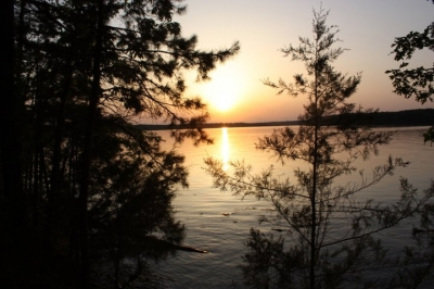 Lake Ouachita Sunset at Denby Point. Photo by USACE.