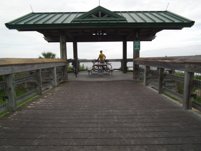 The western terminus of the trail at Withlacoochee Bay on the Gulf of Mexico. Photo by Heather Nagy.