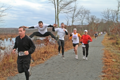 The Ghost Run half-marathon is held each year in early November. Photo by Stan Malcolm.