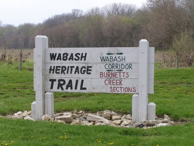 Wabash Heritage Trail access at Davis Ferry Park, north of Lafayette, Indiana. Photo by Chris Light.
