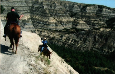 Horseback riders on summit addition. Photo by Curt Glasoe.