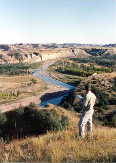The Little Missouiri River below the Maah Daah Hey. Photo by Curt Glasoe.