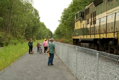 The Luzerne County NRT is an active freight rail line. Photo by Mark James.