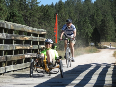 The George S. Mickelson Trail is good for all bicycle styles and rider abilities. Photo by Brooke Smith.