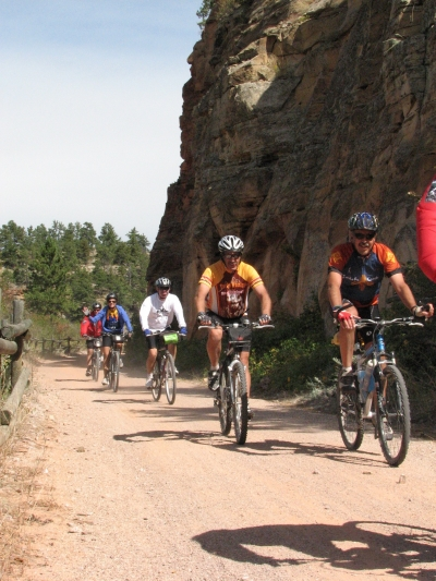 Riders of the Trail Trek coming through Sheep's Canyon and it's rock formations. Photo by Brooke Smith.