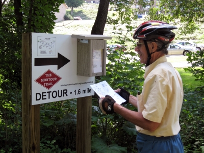 Detour Instructions. Photo by Mary Shaw.