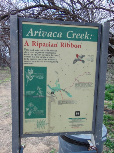 Sign at the Arivaca Creek traihead in the Buenos Aires National Wildlife Refuge. Photo by The Old Pueblo wiki.