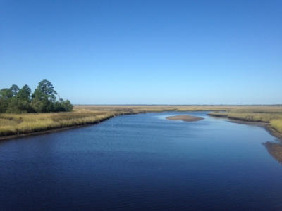 3.	Standing on Lower Suwannee National Wildlife Refuge overlook you have the view of the Big Bend Saltwater Paddling Trail. Photo by Britney Moore.