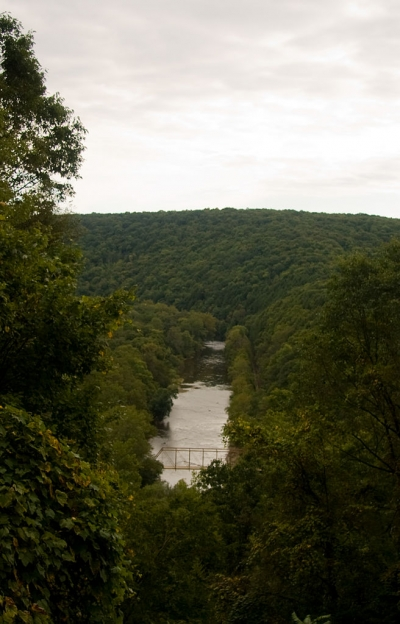 A view of Oil Creek at Oil Creek State Park. Photo by Jason Pratt.