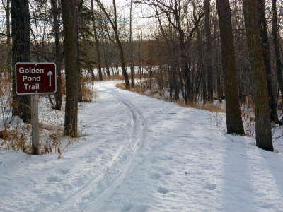 Path  in winter at Rydell Refuge. Photo by USFWS.