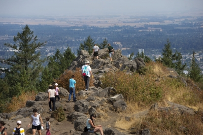 On a clear day you can see all of Eugene from the top of Spencer Butte. Photo by Chris Pietsch.