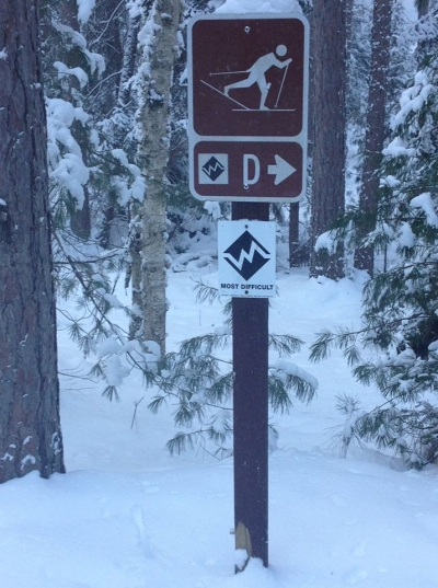 RR Ski Trails Most Difficult Loop D. Out and back it is a 10 mile trip. Photo by https://www.facebook.com/rapid.