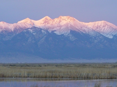 Alamosa South view of Mt. Blanca. Photo by Brian DeVries.