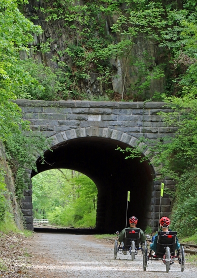 The Howard Tunnel is known as the oldest continuously operating railroad tunnel in the nation. Photo by David Brown.