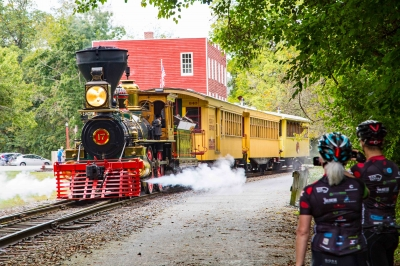 Steam into History tourist train leaves Hanover Junction Train Station. Photo by Tim Senft.