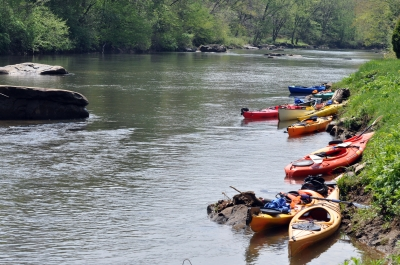Kayaking on the river near McGees Mills. Photo by Sherri Clukey.