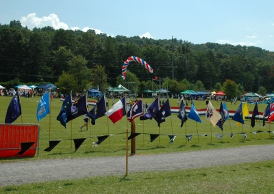 Cross County flags. Photo by Tommy Daniel.
