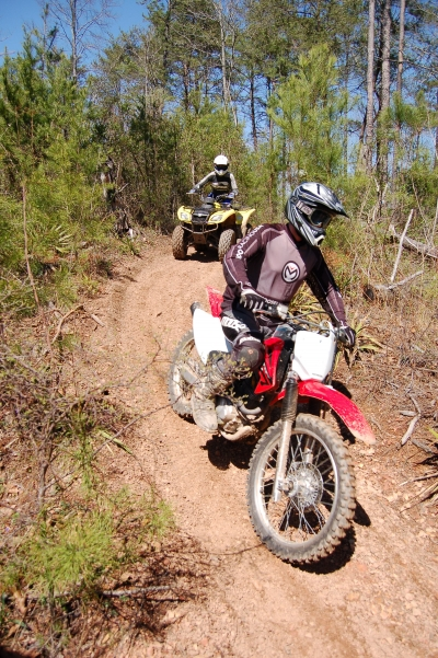 Motorized trail users. Photo by Rob Grant.