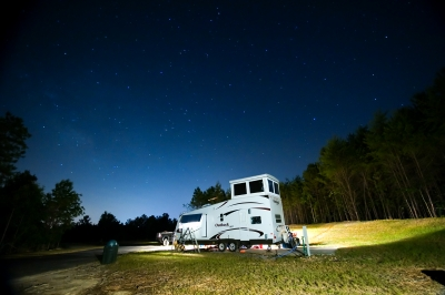 Camping under the stars. Photo by Rob Grant.