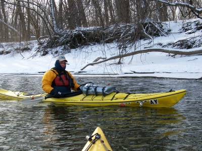 Winter paddle. Photo by Kelli Phillips.
