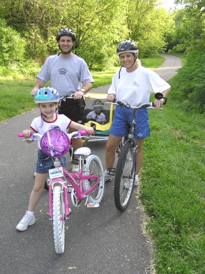 The Scott Family out biking. Photo by Terry Whaley.