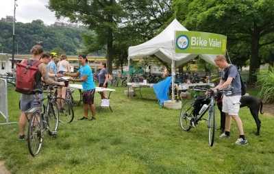Bike Valet at Point Park. Photo by Mary Shaw.