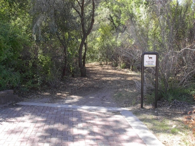 Nature trail entry.