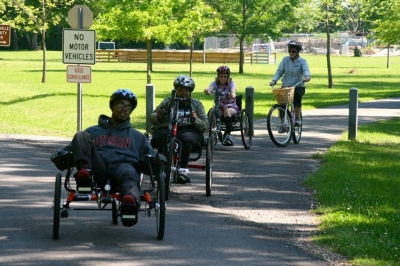Individuals with and without disabilities can ALL participate and enjoy physical activity. Photo by Lakeshore Foundation.