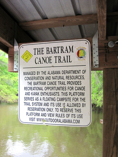 Bartram Canoe Trail Sign
