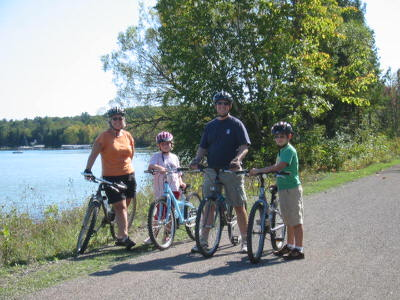 Family Bike Ride along Mullett Lake