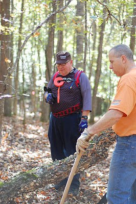 WAMA Pres Richard Russell and help work day fall 2