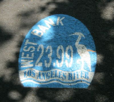 LA River Trail: Mile Marker with Heron Design